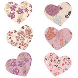 Decorative hearts Stock Images