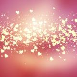 Decorative hearts background Stock Photos