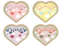Decorative Hearts Background Royalty Free Stock Photography