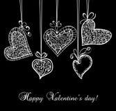 Decorative hearts Stock Photography
