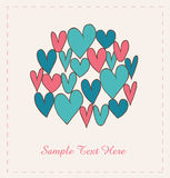 Decorative hearts  Royalty Free Stock Photo