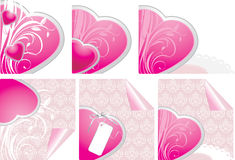 Decorative hearts. Elements for design Royalty Free Stock Photos