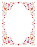 Decorative hearts frame Royalty Free Stock Photo