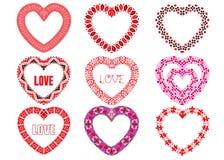 Decorative hearts. Royalty Free Stock Photo