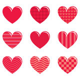 9 hearts Stock Photo