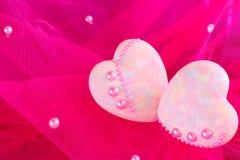 Decorative hearts Stock Photo