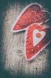 Decorative hearts in retro style Royalty Free Stock Photo