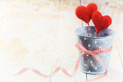 Decorative hearts in retro style Royalty Free Stock Photography