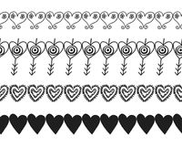 Decorative hearts, ribbons and borders. Decoration for cards or scrapbooking. Vector. Illustration Royalty Free Stock Image