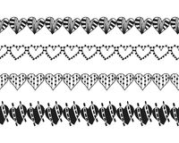 Decorative hearts, ribbons and borders. Decoration for cards or scrapbooking. Vector. Illustration Royalty Free Stock Photos
