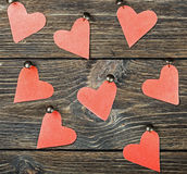 Decorative hearts toys hanging Stock Images