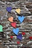 Decorative Hearts on a wall Stock Photo
