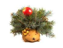 Decorative hedgehog  on white Stock Photos