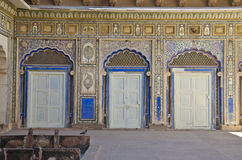 Decorative historical doors in Rajasthan fort  palace Royalty Free Stock Photography