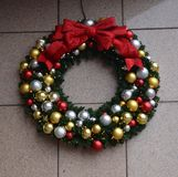 Decorative Holiday Wreath Royalty Free Stock Photography