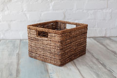 Decorative home basket Royalty Free Stock Photo