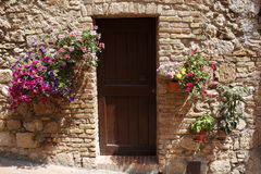 Decorative home doorway Stock Photo