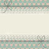 Decorative horizontal lace frame with flowers, butterflies and p Stock Image