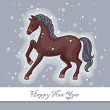 Decorative horse. On the gray background Royalty Free Stock Photo