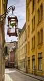 Decorative hourglass in old Riga city, Latvia Royalty Free Stock Photos