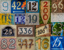 Decorative House Number Collection Royalty Free Stock Photography