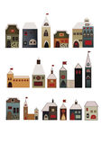 Decorative houses set Stock Image
