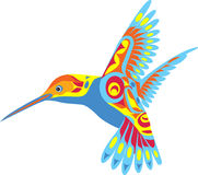 Decorative Hummingbird. A vector illustration of a very colorful hummmingbird in flight Stock Image
