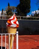 A decorative ice cream cone royalty free stock images