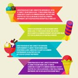 Decorative ice cream paper banners set Royalty Free Stock Images
