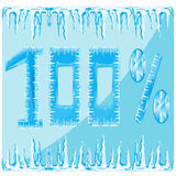 Decorative ice numeral Royalty Free Stock Image