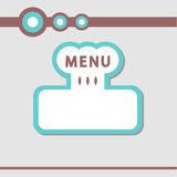 Decorative icon for restaurant menu Stock Photography