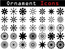Decorative icons Royalty Free Stock Images