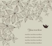 Decorative illustration. Decorative background illustration  with colorful flowers and birds Royalty Free Stock Photo