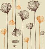 Decorative illustration. Decorative background illustration  with poppies Royalty Free Stock Photos