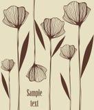 Decorative illustration. Decorative background illustration  with poppies Stock Photo