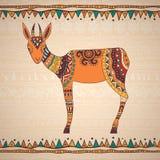 Decorative illustration antelope Royalty Free Stock Photography