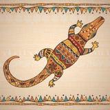 Decorative illustration crocodile Stock Images
