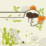 Decorative illustration with flowers Stock Image