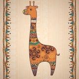 Decorative illustration giraffe Stock Photos