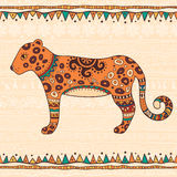 Decorative illustration leopard Stock Photography
