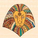 Decorative illustration lion Royalty Free Stock Photo