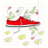 Decorative illustration of Shoe Stock Photography