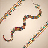 Decorative illustration snake Stock Images