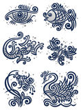 Decorative illustrations2 Stock Photography