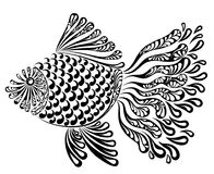 Decorative image of a fantastic fishnet fish. Vector illustration Stock Photography