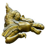 Decorative image of a golden dragon Stock Images