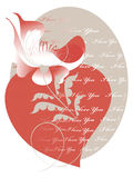 Decorative image of the heart and a flower Stock Photography