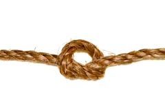 Hemp rope on a white background Stock Photo