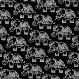 Decorative Indian Elephant pattern. Ethnic Indian Elephant pattern - detailed and easy to edit Royalty Free Stock Image