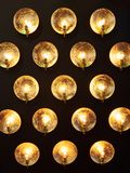 Decorative installation of incandescent lamps Stock Photography
